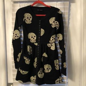 Betsey Johnson Long Sleeve Skull Dress